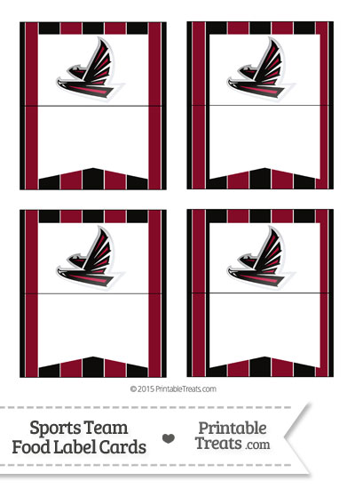Falcons Food Label Buffet Cards from PrintableTreats.com