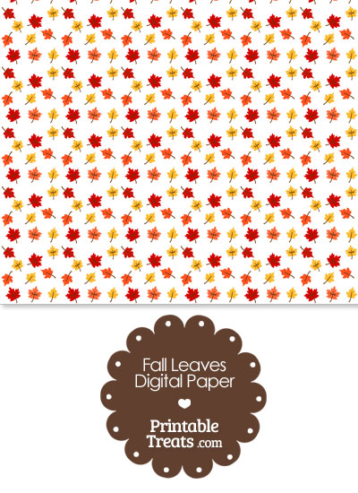 Fall Leaves Digital Scrapbook Paper from PrintableTreats.com