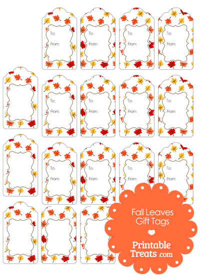 Fall Leaves Gift Tags from PrintableTreats.com