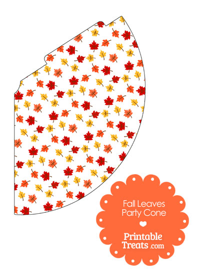 Fall Leaves Party Cone from PrintableTreats.com
