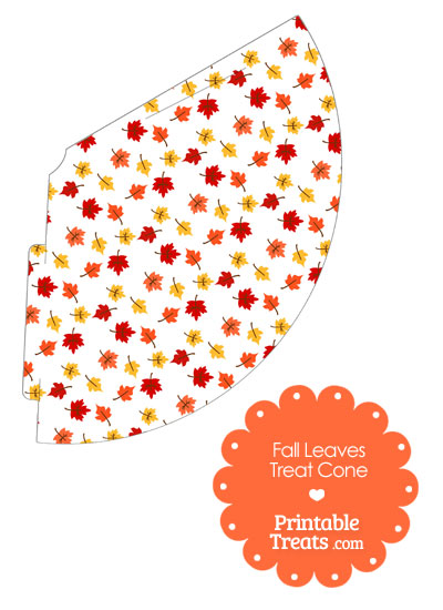 Fall Leaves Printable Treat Cone from PrintableTreats.com