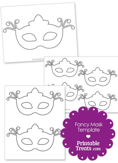 Fancy Eye Mask Template from PrintableTreats.com