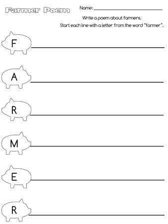 printable farmer acrostic poem