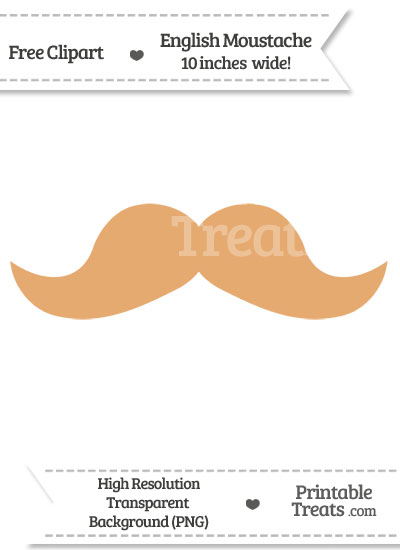 Fawn English Mustache Clipart from PrintableTreats.com