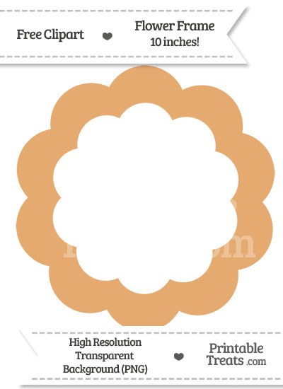 Fawn Flower Frame Clipart from PrintableTreats.com