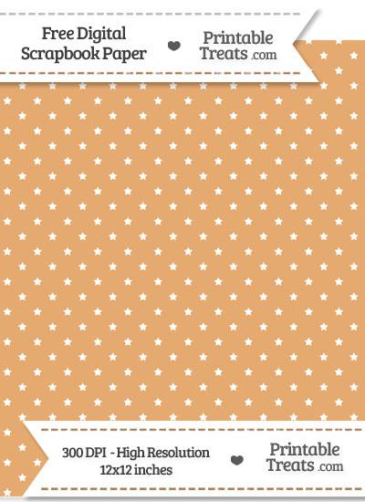 Fawn Mini Stars Digital Paper from PrintableTreats.com
