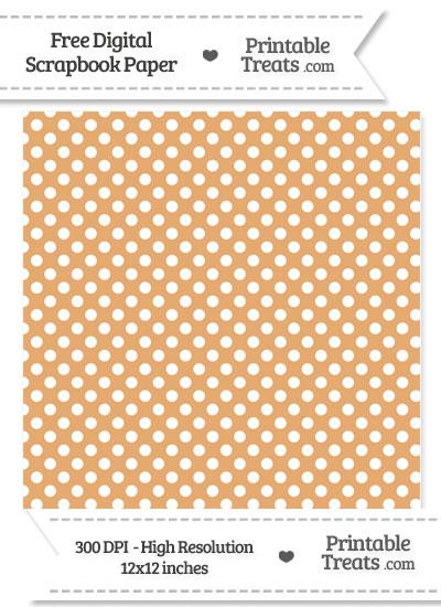 Fawn Polka Dot Digital Paper from PrintableTreats.com