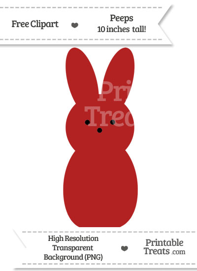 Fire Brick Red Peeps Clipart from PrintableTreats.com
