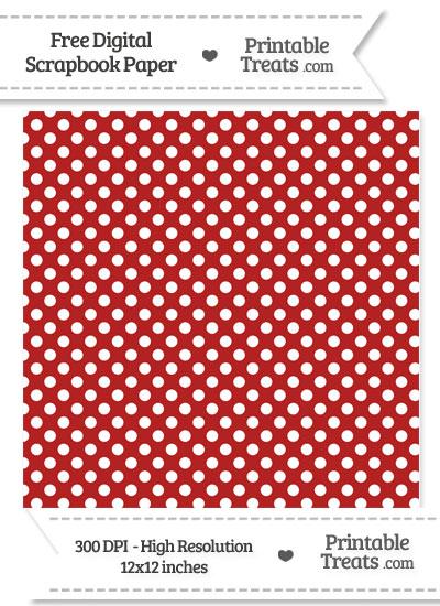 Fire Brick Red Polka Dot Digital Paper from PrintableTreats.com