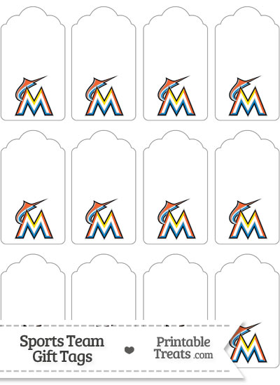 Florida Marlins Gift Tags from PrintableTreats.com