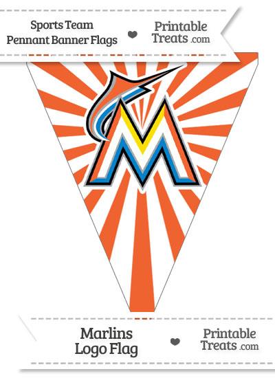 Florida Marlins Pennant Banner Flag from PrintableTreats.com