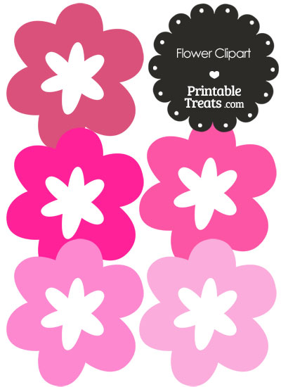 Flower Clipart in Shades of Pink from PrintableTreats.com