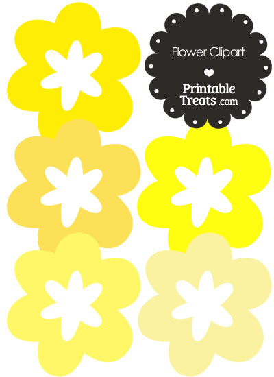 Flower Clipart in Shades of Yellow from PrintableTreats.com