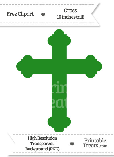 Forest Green Cross Clipart from PrintableTreats.com