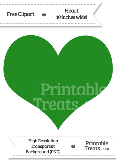 Forest Green Heart Clipart from PrintableTreats.com