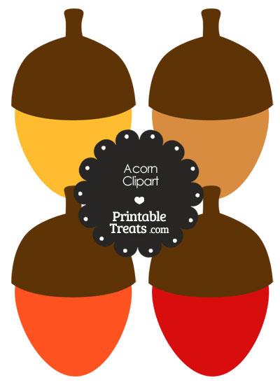 Free Acorn Clipart from PrintableTreats.com