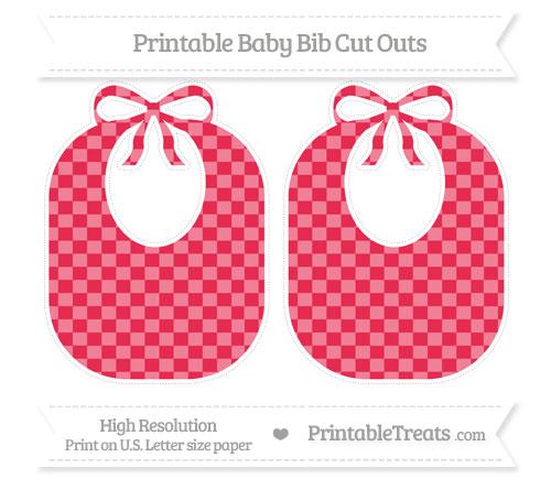 Free Amaranth Pink Checker Pattern Large Baby Bib Cut Outs