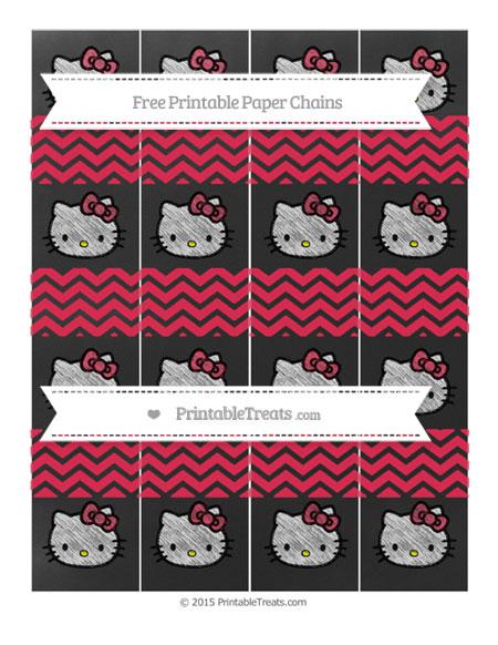 Free Amaranth Pink Chevron Chalk Style Hello Kitty Paper Chains
