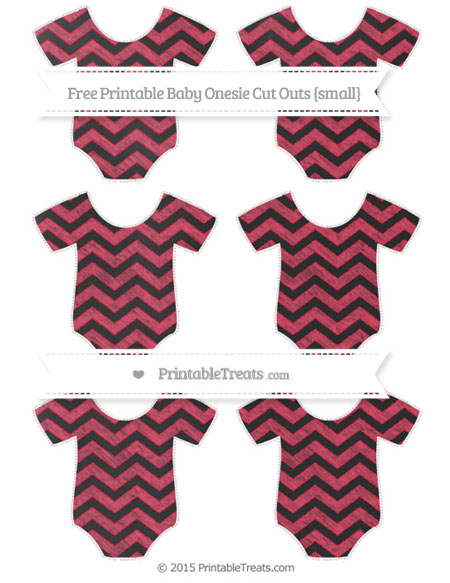 Free Amaranth Pink Chevron Chalk Style Small Baby Onesie Cut Outs