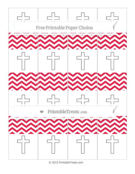 Free Amaranth Pink Chevron Cross Paper Chains