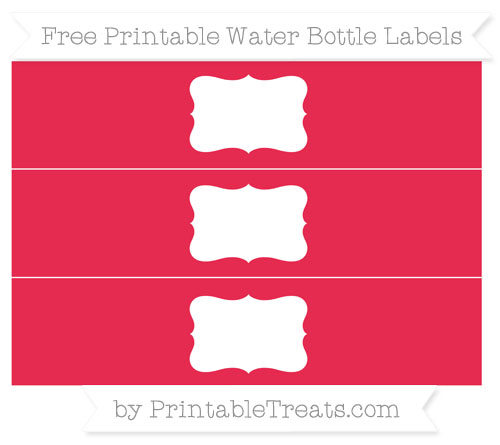 Free Amaranth Pink Water Bottle Labels