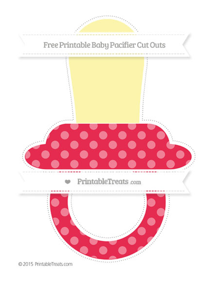 Free Amaranth Pink Dotted Pattern Extra Large Baby Pacifier Cut Outs