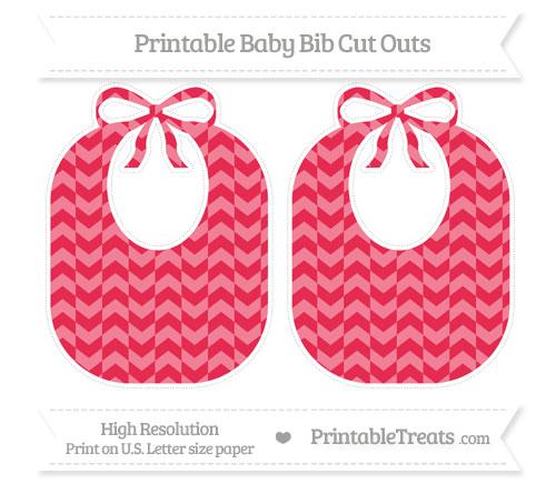 Free Amaranth Pink Herringbone Pattern Large Baby Bib Cut Outs