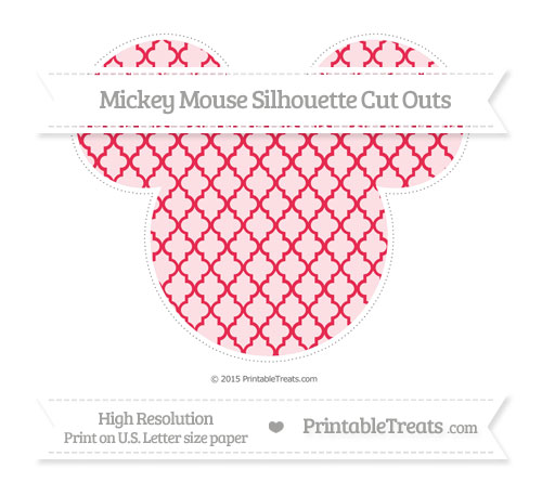 Free Amaranth Pink Moroccan Tile Extra Large Mickey Mouse Silhouette Cut Outs