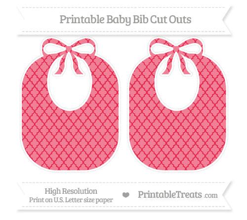 Free Amaranth Pink Moroccan Tile Large Baby Bib Cut Outs