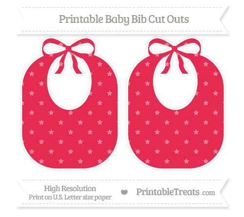Free Amaranth Pink Star Pattern Large Baby Bib Cut Outs