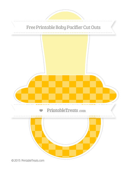 Free Amber Checker Pattern Extra Large Baby Pacifier Cut Outs