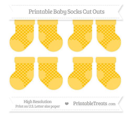 Free Amber Checker Pattern Small Baby Socks Cut Outs