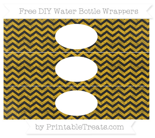 Free Amber Chevron Chalk Style DIY Water Bottle Wrappers