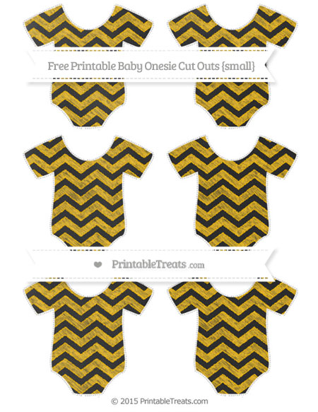Free Amber Chevron Chalk Style Small Baby Onesie Cut Outs