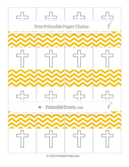 Free Amber Chevron Cross Paper Chains