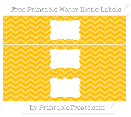 Free Amber Chevron Water Bottle Labels