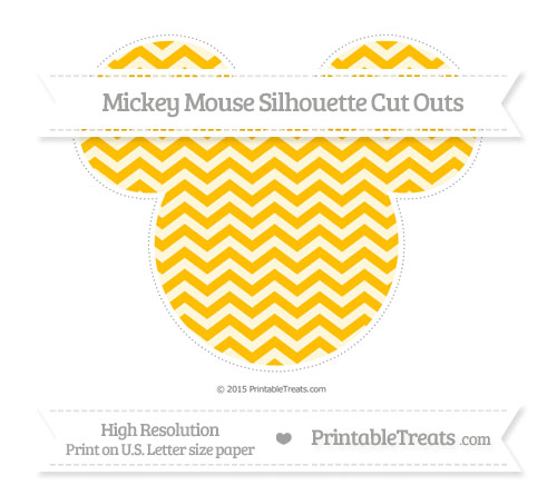 Free Amber Chevron Extra Large Mickey Mouse Silhouette Cut Outs