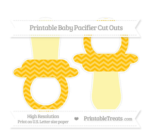 Free Amber Chevron Large Baby Pacifier Cut Outs
