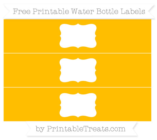 Free Amber Water Bottle Labels