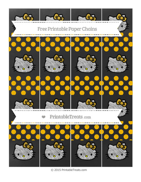 Free Amber Dotted Pattern Chalk Style Hello Kitty Paper Chains