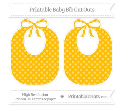 Free Amber Dotted Pattern Large Baby Bib Cut Outs