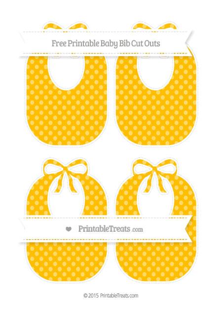 Free Amber Dotted Pattern Medium Baby Bib Cut Outs
