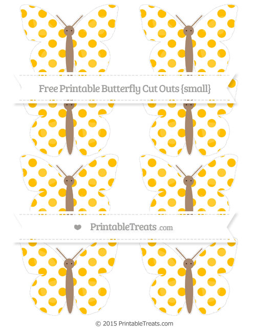 Free Amber Dotted Pattern Small Butterfly Cut Outs