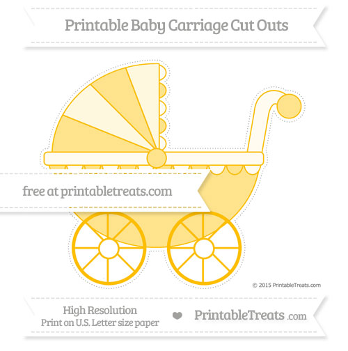 Free Amber Extra Large Baby Carriage Cut Outs
