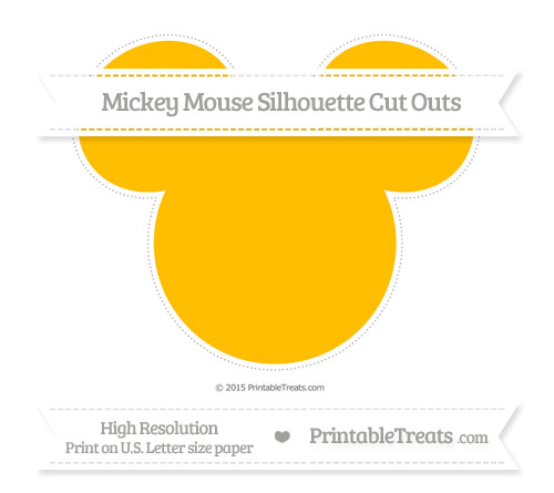Free Amber Extra Large Mickey Mouse Silhouette Cut Outs