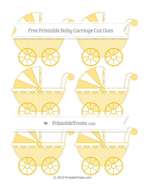 Free Amber Fish Scale Pattern Small Baby Carriage Cut Outs