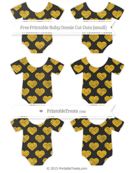Free Amber Heart Pattern Chalk Style Small Baby Onesie Cut Outs