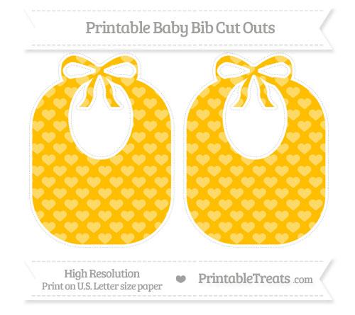 Free Amber Heart Pattern Large Baby Bib Cut Outs