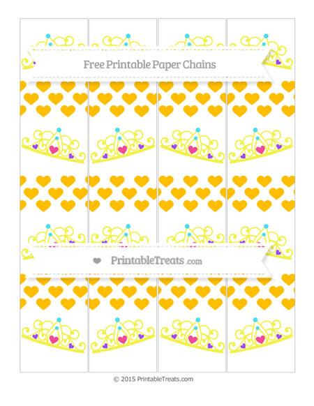 Free Amber Heart Pattern Princess Tiara Paper Chains