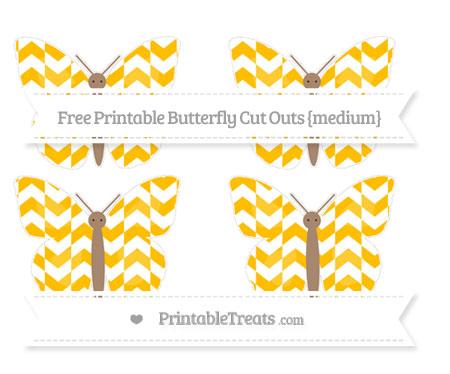 Free Amber Herringbone Pattern Medium Butterfly Cut Outs